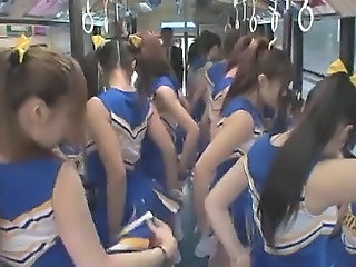 Aziaat Bus Cheerleader Japans Tiener Uniform