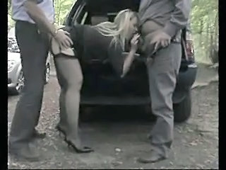 Blowjob British Car Clothed European Hardcore MILF Outdoor Stockings Threesome