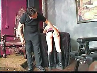 Her ass turns red after hot spanking tubes