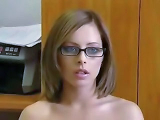 Babe Cute Glasses Homemade Teen
