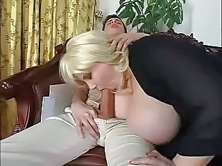 BBW Store pupper Blond Blowjob MILF