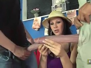 Big cock Pornstar Threesome