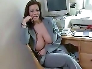 Amateur Big Tits MILF Natural Office Secretary
