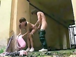 Amateur Girlfriend Outdoor Pigtail Teen