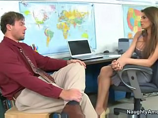 Amazing MILF Office Pornstar