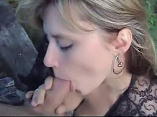 Blowjob MILF Outdoor Wife