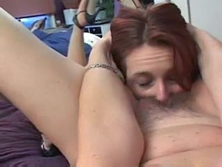 Mom wakes up her daughter with pussy eating