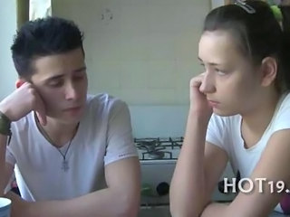 Amateur Girlfriend Kitchen Russian Teen