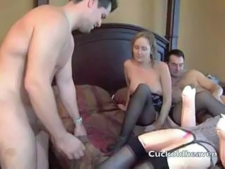Amateur Cuckold Stockings Toy Wife