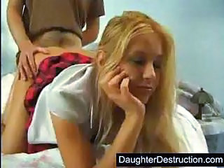 Blonde Clothed Daughter Doggystyle Teen