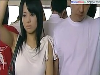 Asian Babe Bus Cute Public Teen