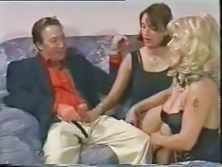 Babe European German Handjob Threesome Vintage