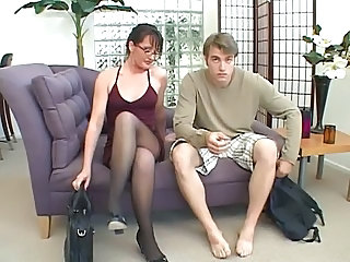 Glasses Legs MILF Pantyhose