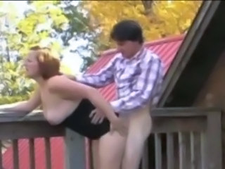 Chubby Doggystyle MILF Outdoor Redhead