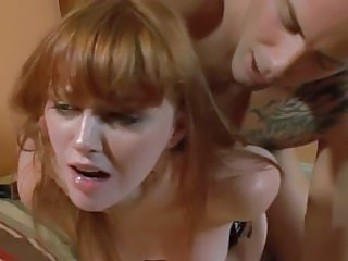 Cock crazy Marie McCray gets tied up & doggy fucked