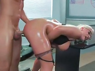 Big Tits Blonde Doggystyle Glasses Hardcore MILF Oiled Stockings Teacher