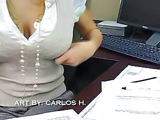 Amazing MILF Natural Office