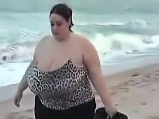 BBW Beach Big Tits MILF Outdoor