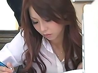 Asian Babe Japanese Office