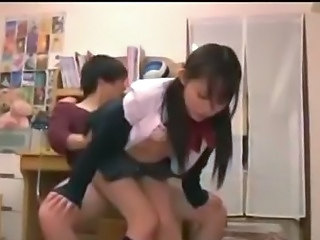 Asian Clothed School Teen