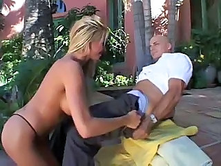 Blonde MILF Outdoor