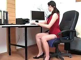 Secretary Karen In Nylons Fucked