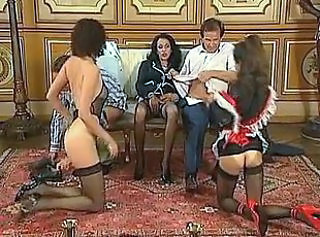 Groupsex Maid MILF Stockings