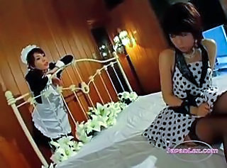 Asian Lesbian Maid Uniform