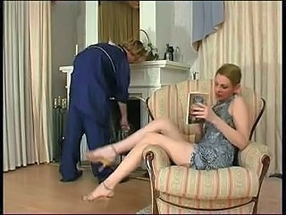 Russian Lady and cleaner (boy...