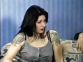 Brunette Goth MILF Tattoo