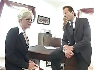 Blonde Secretary Kathy Anderson Is Desk Dicked