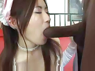 Asian Girl Gets Invaded By Big Black Cock