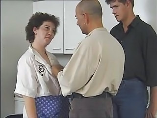 Kitchen Mature Threesome Vintage