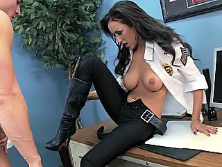 Amazing Brunette MILF Pornstar Uniform