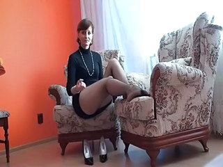 Amazing Brunette Legs Mature Stockings