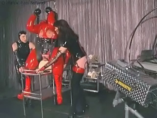 Bdsm Latex Slave Threesome