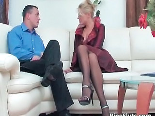 Sweet mature blonde gets pussy fucked