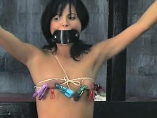 Britt restrained and punished