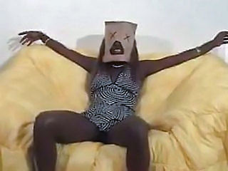 Bag And Gag  Black Ebony Cumshot...