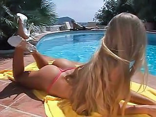 Ass Blonde Pool Teen
