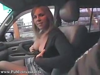 Amateur Car Public Teen