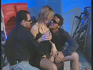 Babe Has a Few Drinks & Bangs TWO Guys in Front of Motorcycle!  Is this some kind of ART Film???