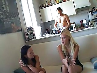 CFNM Kitchen MILF Threesome