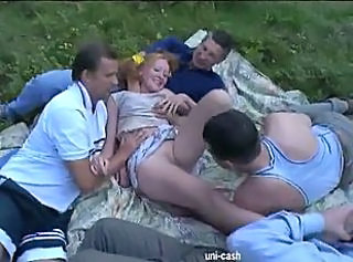 Gangbang Outdoor Teen