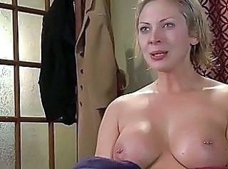 Blonde MILF Natural Piercing