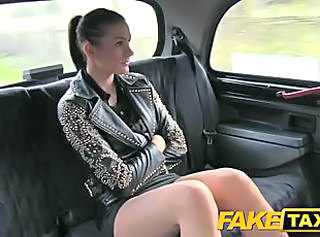 FakeTaxi Brunette club hostess in cash dilemma