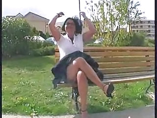 French Mature Outdoor