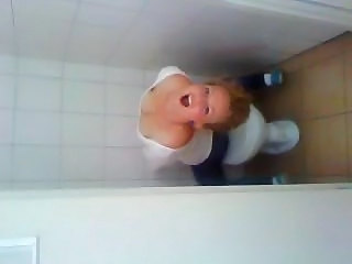Blonde Teen Toilet