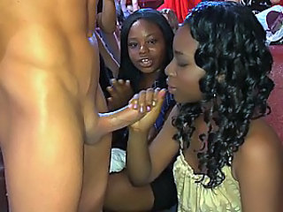 Ebony girl gets facial with her...