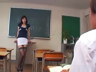 Asian Japanese MILF School Stockings Teacher